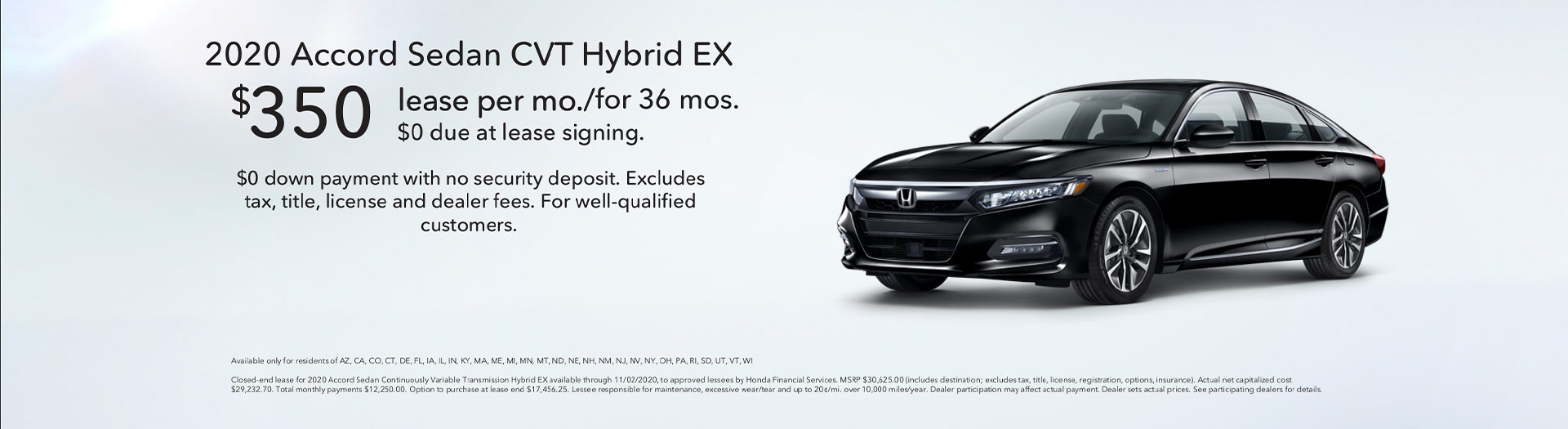 Honda Accord Hybrid Offer